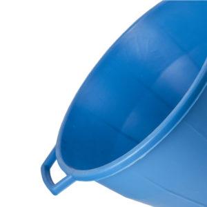 bacinella in plastica tonda con manici