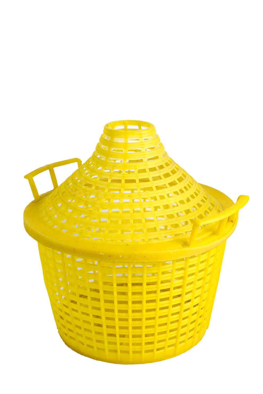 Fodero copri damigiana gialla