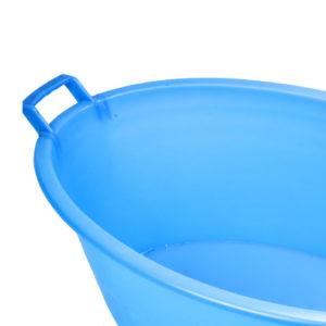 Vasca ovale in polietilene con manici.