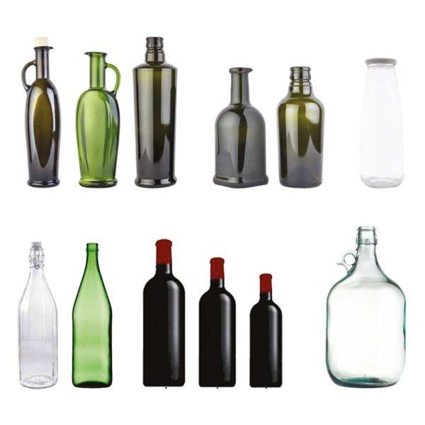 tipologia di bottiglie in vetro